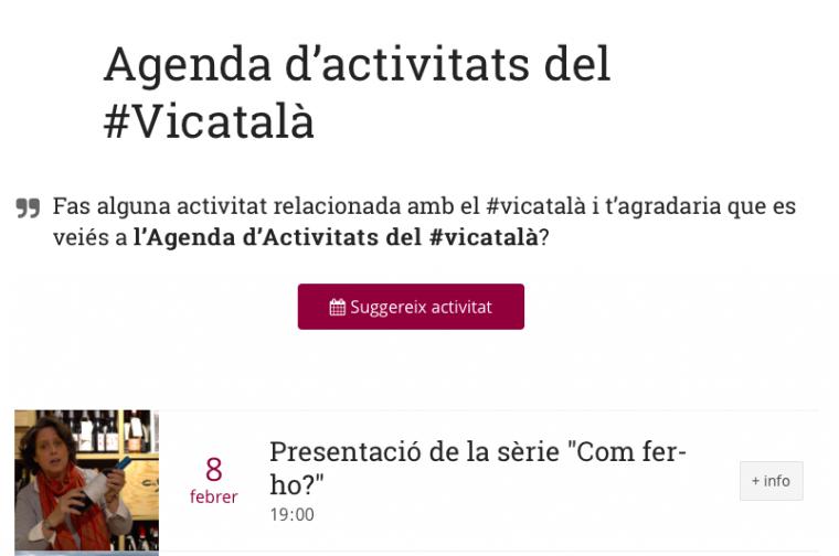 Agenda d'activitats del #vicatalà