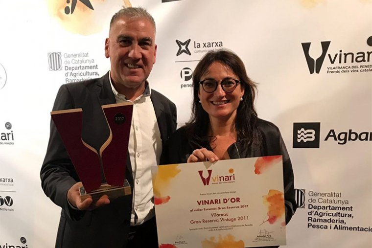 Damià Deas i Eva Plazas, a la Gala de lliurament dels Premis Vinari 2017