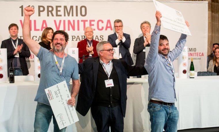 Siscu Martí de Vila viniteca lliure el primer premi a Jordi Carbó i Ramon Jané
