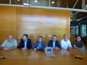 Moment de la reunió per valorar l'èxit de dos anys de Vinyes x Calor