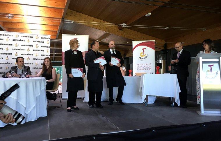 Els tres sommeliers finalistes