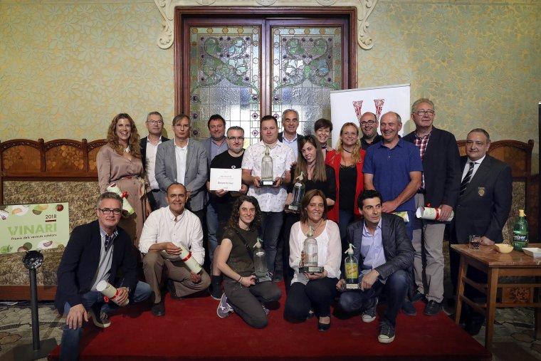 Tots els guardonats a la quarta edició dels Premis Vinari dels Vermuts