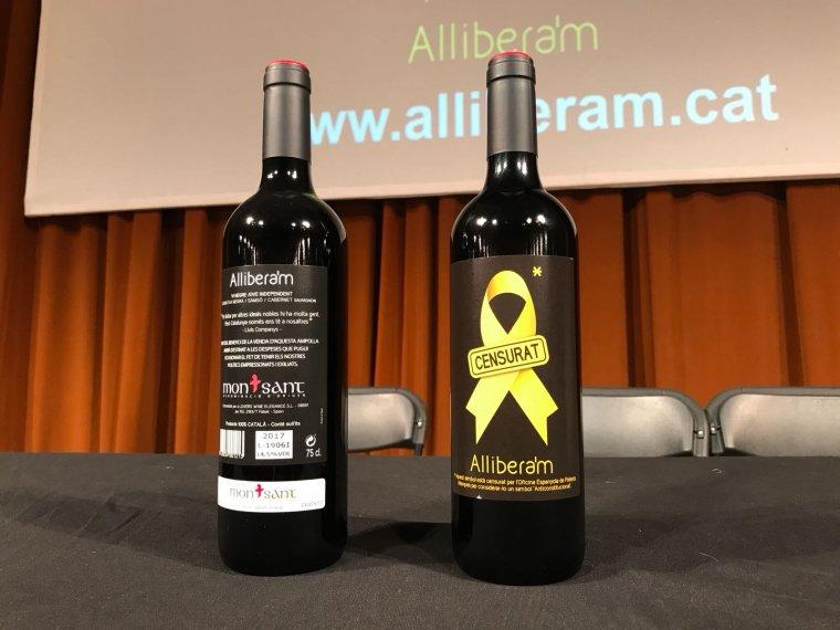 Dues ampolles del vi 'Allibera'm'