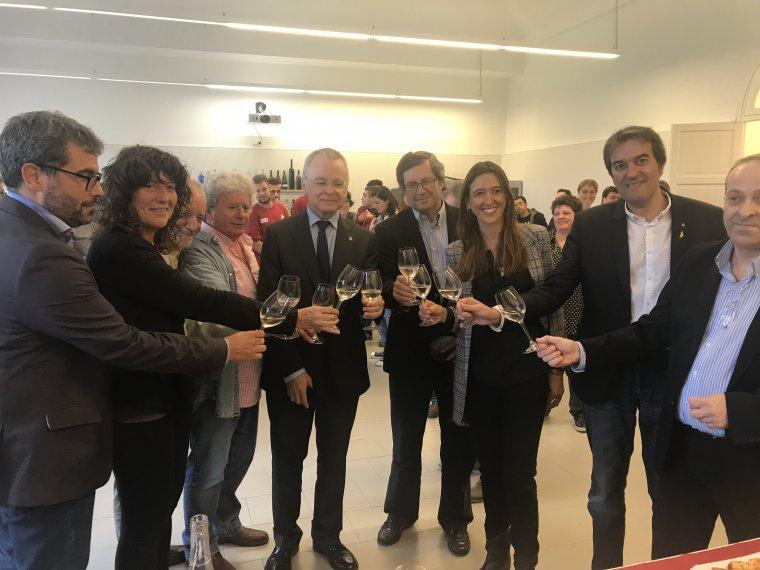 Acord recuperació vinya de Santa Coloma de Gramenet