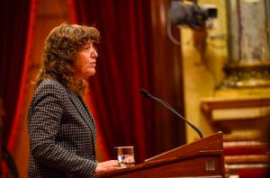 La consellera Jordà en el moment de presentar el projecte de Llei Vitivinícola de Catalunya al Parlament