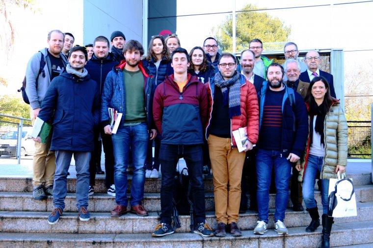 Estudiants del Master de l'OIV han passat cinc dies a Catalunya  per conèixer el sector vitivinícola