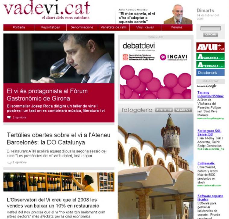 La primera edició de Vadevi.cat dia 25 de febrer de 2009