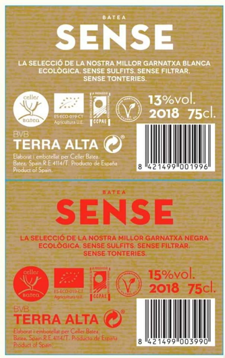 L'etiqueta dels nous vins del Celler Batea