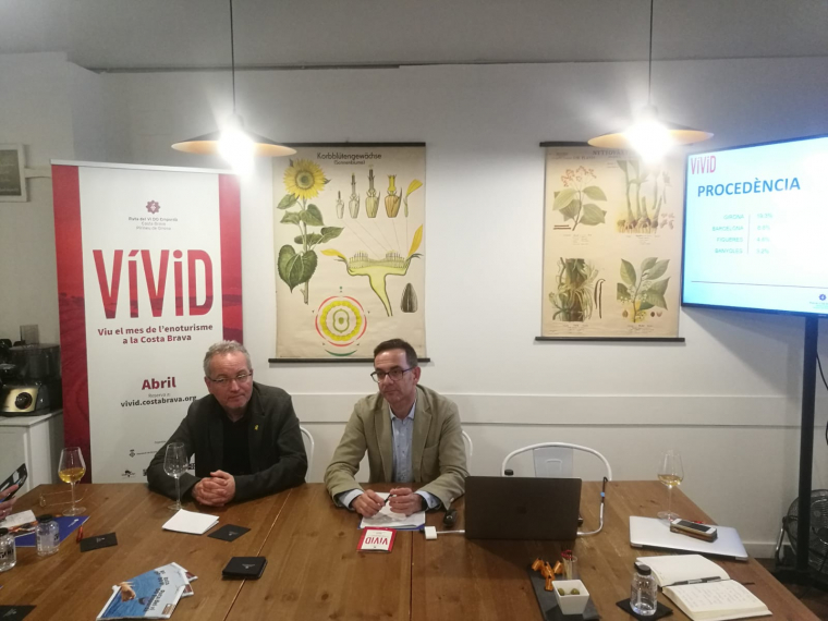 Xavier Albertí, president de la DO Empordà i Jaume Marín, cap de Màrqueting del Patronat de Turisme Costa Brava Girona
