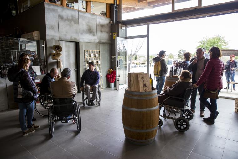 Visita a La Vinyeta per persones amb mobilitat reduida