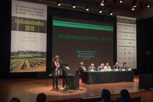 La consellera Teresa Jordà va ser l'encarregada de tancar la Conferència Internacional EcoSostenibleWine