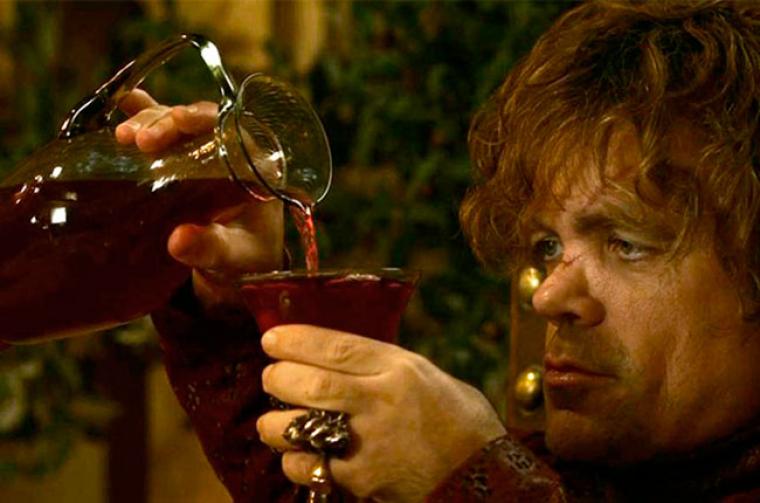 Tyrion Lannister és un dels personatges més vinculats al vi