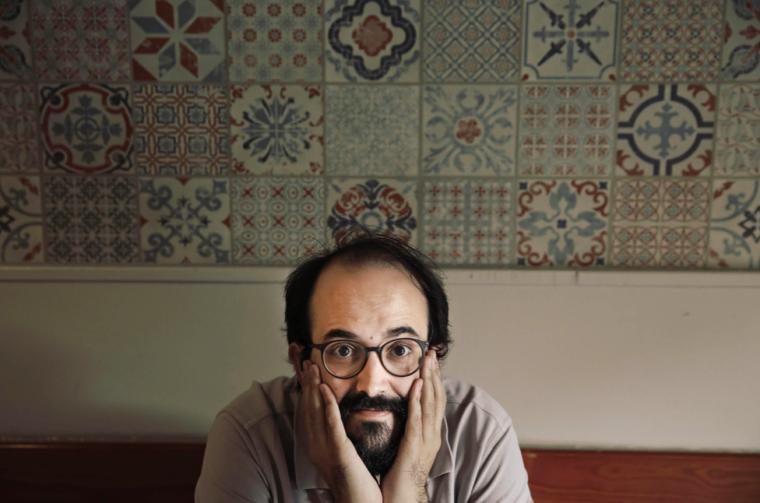 El director de la revista El Jueves en un moment de l'entrevista
