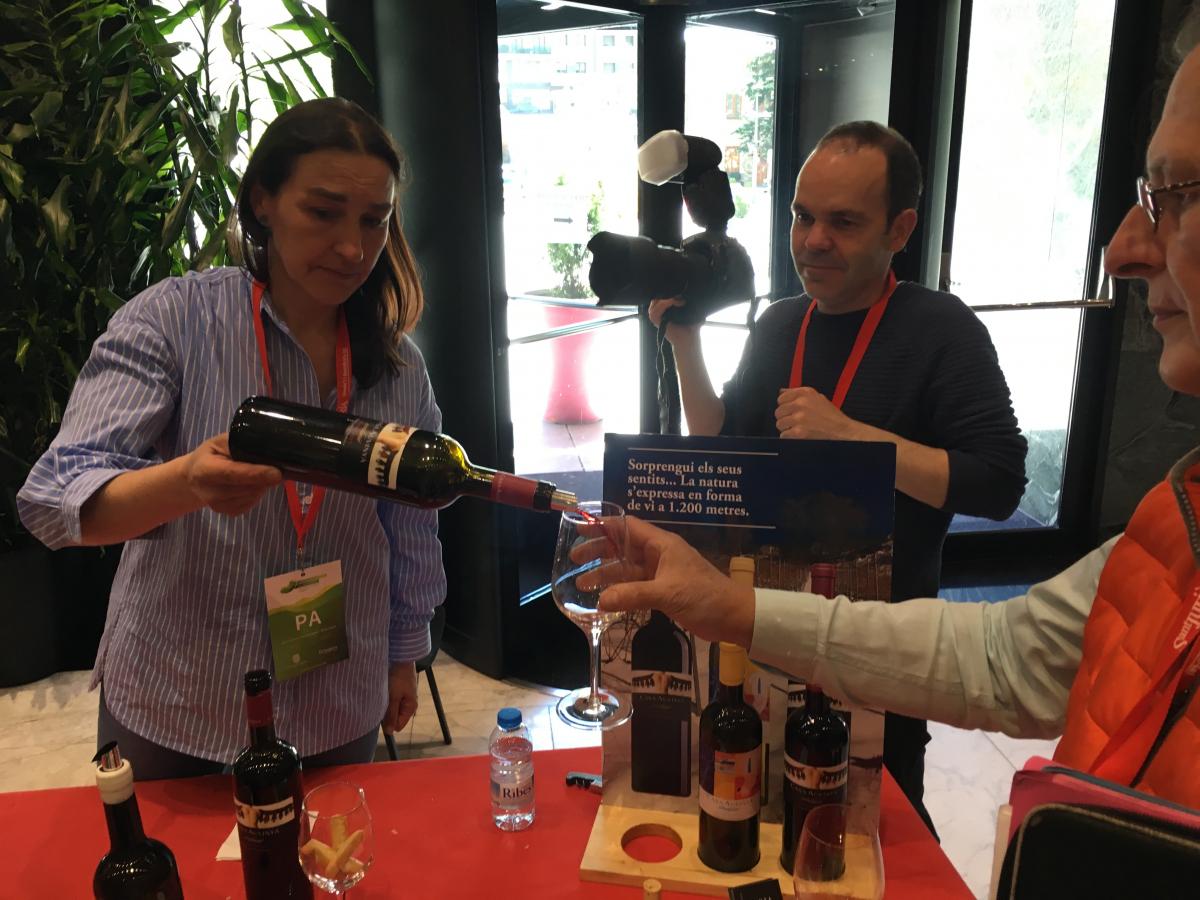 Cristina Tor a la jornada de vins de muntanya