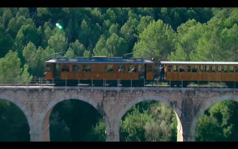 El Tren de Sóller una línia de 1913 en ús que s'ha convertit en un gran reclam turístic