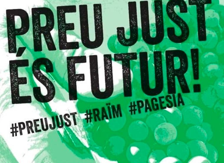 El lema de la vaga del 5 de setembre dels viticultors
