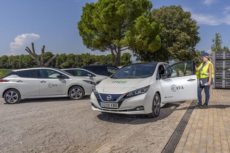 Els vehicles Nissan que faran servir els verificadors de la DO Cava durant la verema 2019