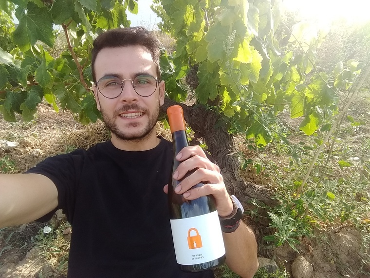 Ferran Lacruz amb l'Orange censurat