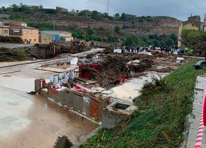Així ha quedat el celelr Rendé Masdéu després de la crescuda del riu Francolí