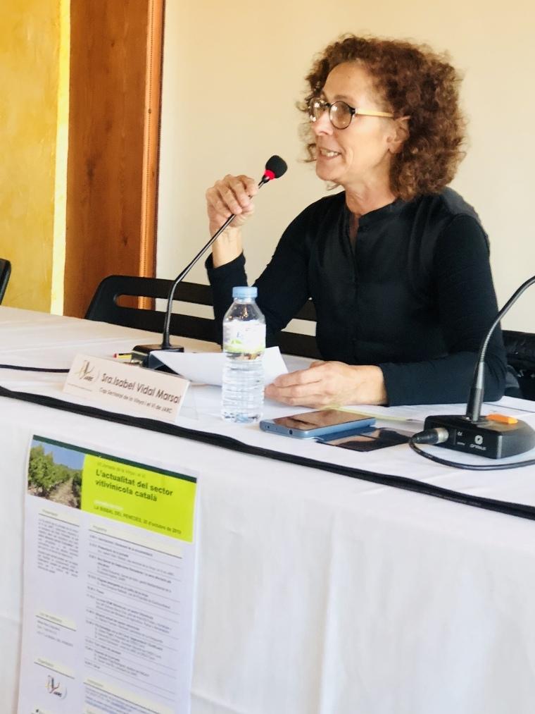 Isabel Vidal és la cap sectorial de la vinya i el vi de les JARC