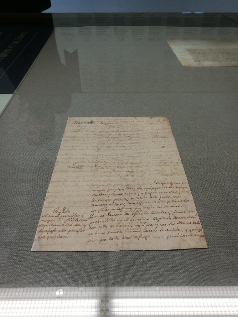 Un dels documents de l'arxiu de la família Desvalls que es pot veure a Finca Viladellops