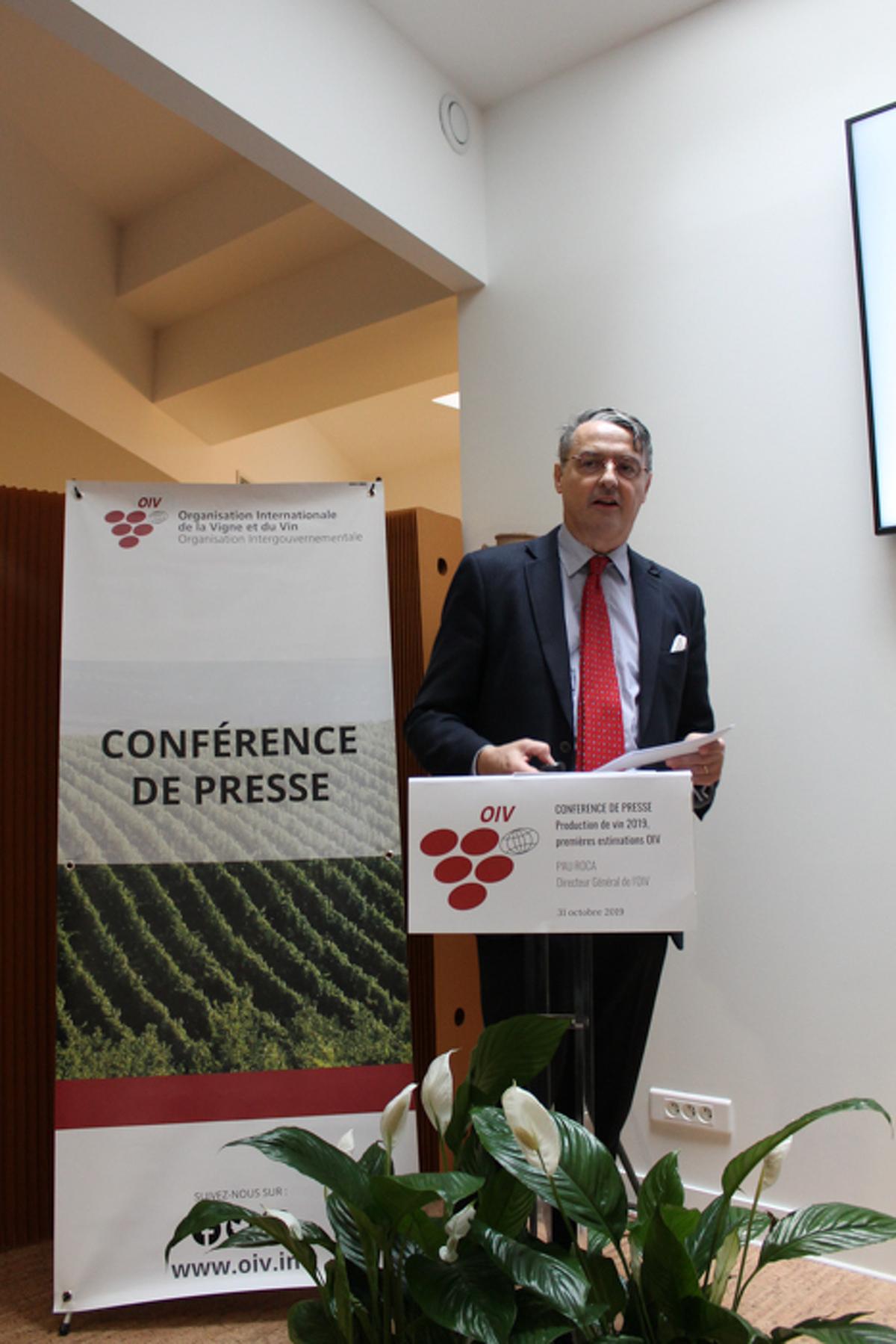 Pau Roca, el director general de l'OIV en la presentació d'aquestes dades