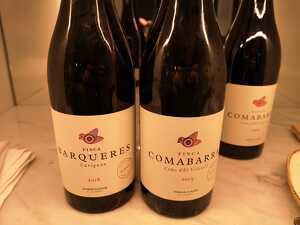 Finca Barqueres i Finca Comabarra  són dos dels vins que es van servir durant el dinar