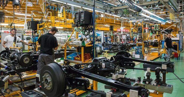 Treballadors de la planta Nissan de la Zona Franca de Barcelona