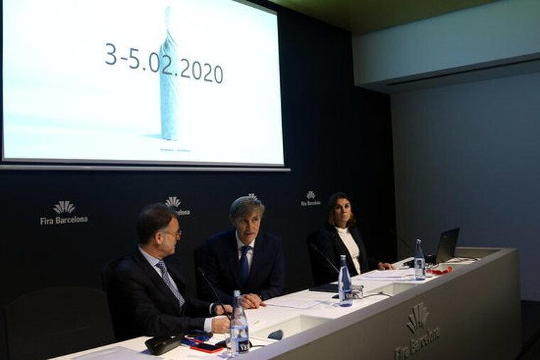 Javier Pagés, Toni Valls i Marta Macías en la presentació de la Barcelona Wine Week