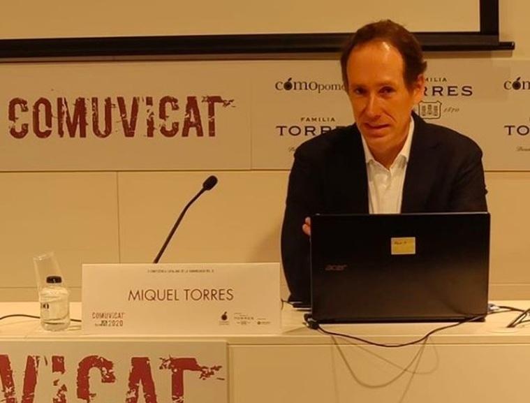 Miquel Torres Macssazec, en la seva intervenció al Comuvicat