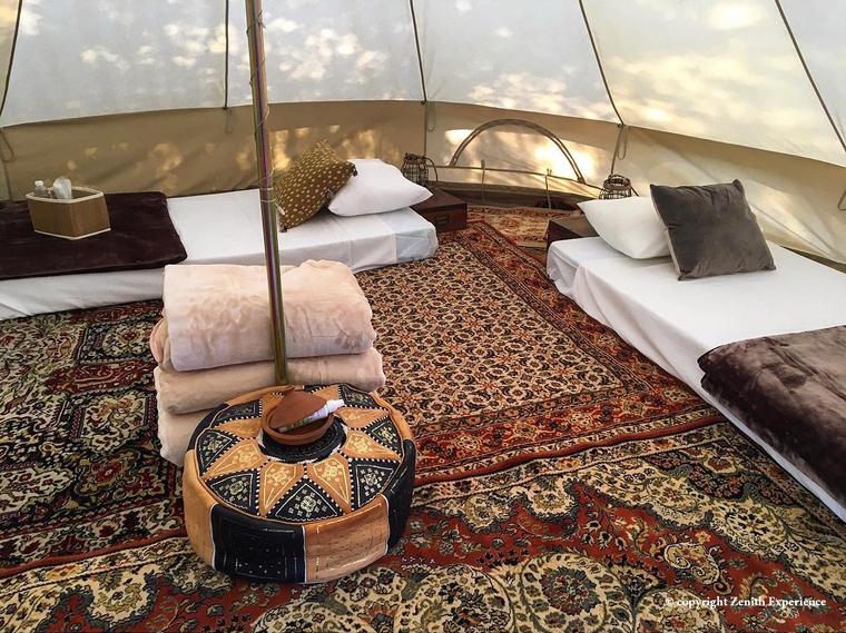 Les tendes per acampar tenen les prestacions d'un hotel
