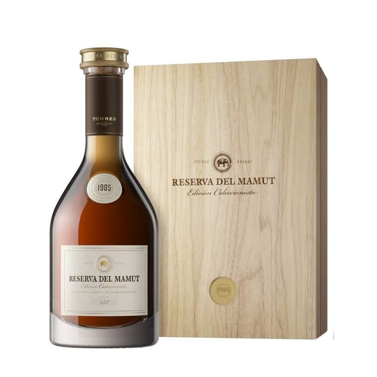 El Reserva del Mamut és el brandi més exclusiu de Torres i té un preu de 1.300 euros