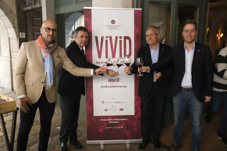 Membres del Patronat de Turisme i de la DO Empordà en la presentació de la 7a edició del Vívid