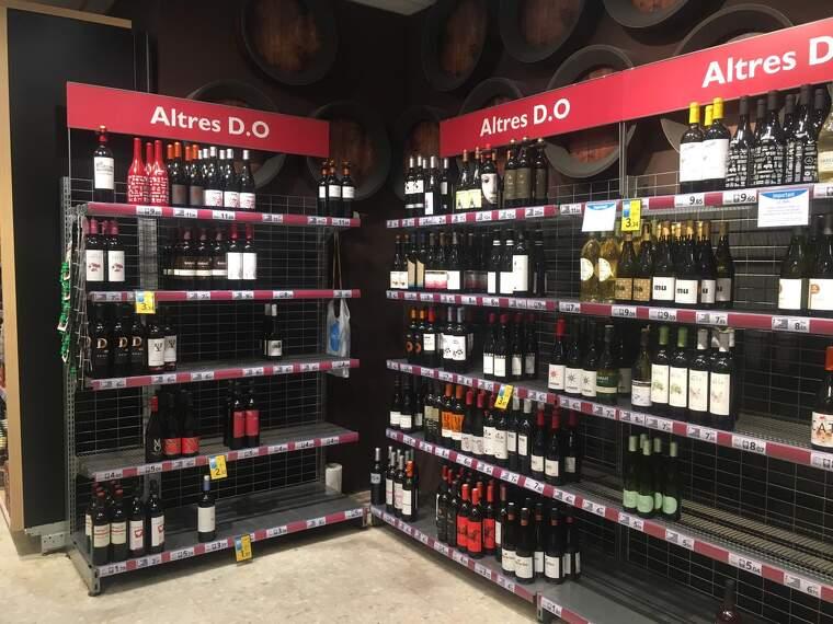 Els supermercats han incrementat les vendes de vins