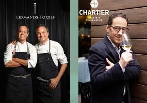Els germans Torres i François Chartier han preparat un sopar molt especial amb la DO Cava
