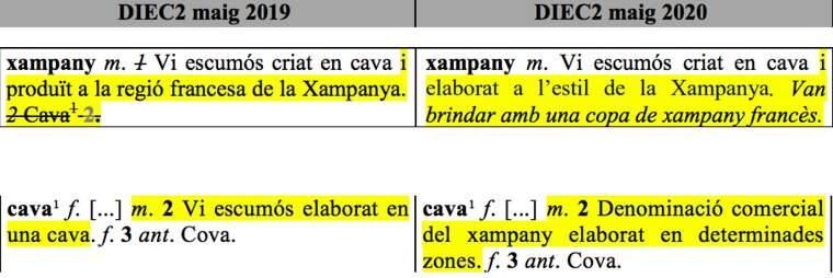 Cava vs xampany al DIEC2