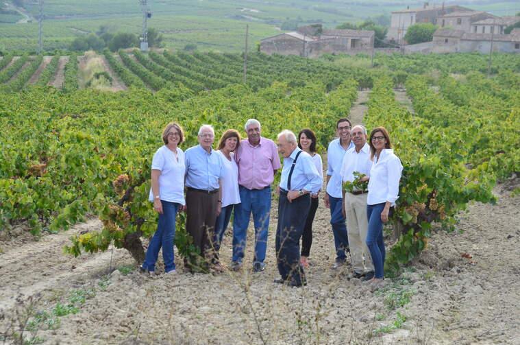 Les quatre famílies de viticultors que formen Vins El Cep