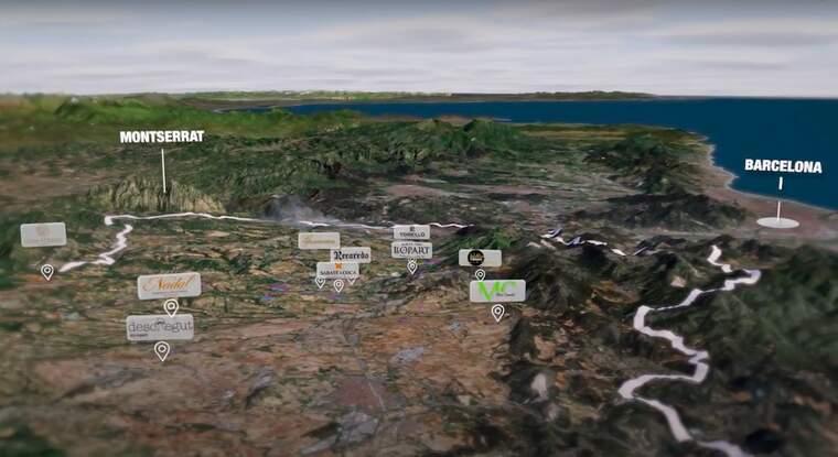 El territori dels escumosos Corpinnat a vista d'ocell