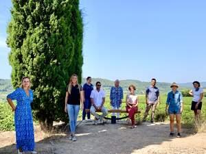 Els representants dels 10 cellers de la Ruta del Vi del Penedès que proposen la Festa de la Verema dia 5 de setembre