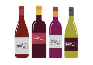 Ampolles de vi català