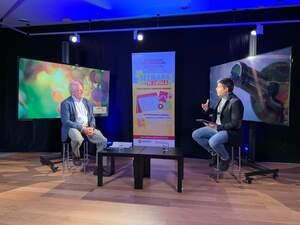 El director general de l'Incavi Salvador Puig en un moment d'una entrevista a la Setmana del Vi TV