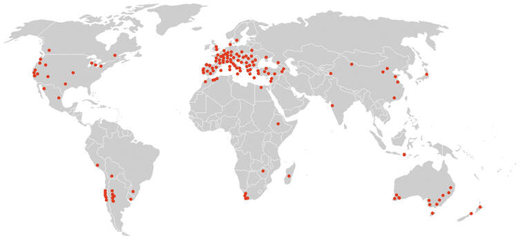 Àrees productores del vi a tot el món