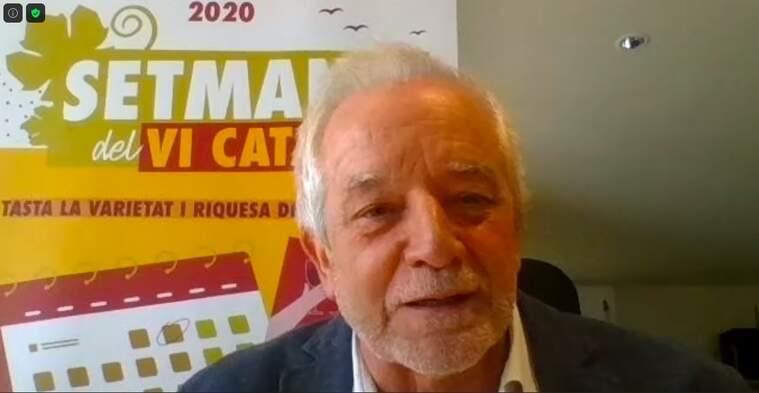 Salvador Puig, director de l'Incavi durant la presentació de la Setmana del Vi Català
