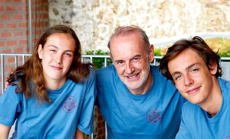 MIchel Grupper amb dos dels seus fills