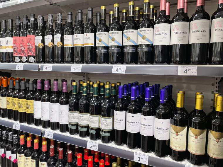 Vins negres als lineals del supermercat Primaprix, la majoria D.O Rioja