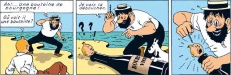 A la versió francesa, es parla d'un vi de la Borgonya