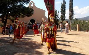 Imatge del grup d'armats de la parròquia de Sant Vicenç Màrtir de Castellvell del Camp.