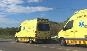 Dues ambulàncies del SEM han treballat a l'accident.