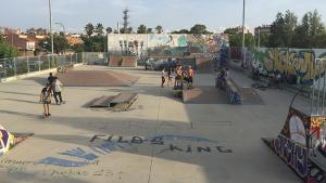 Imatge de l'estat actual de l'skatepark de Reus.