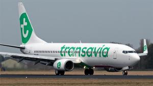Imatge d'un dels avions de Transavia.